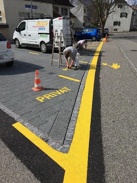 Parkplatzmarkierung